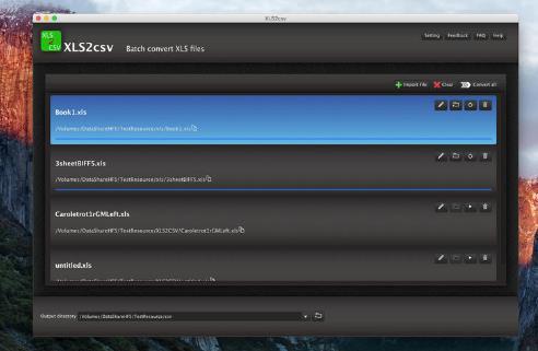XLS2csv Mac版界面