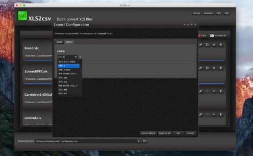 XLS2csv Mac版
