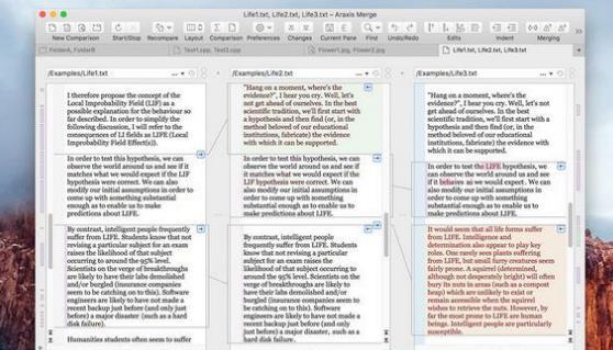 Araxis Merge Pro Mac版界面