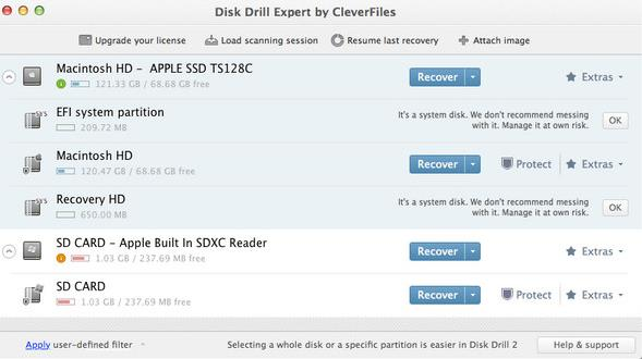 Disk Drill for Mac界面
