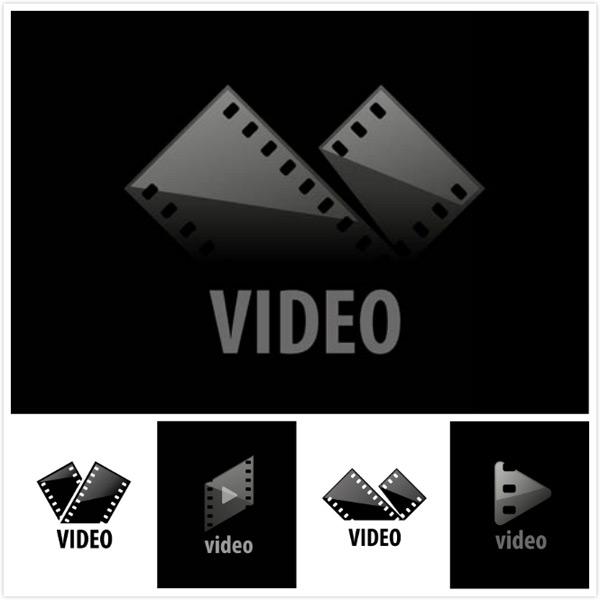 电影胶片元素主题标志背景矢量素材