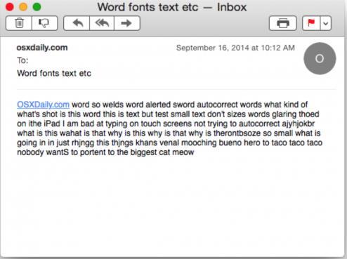 苹果电脑中如何修改邮件字体大小教程