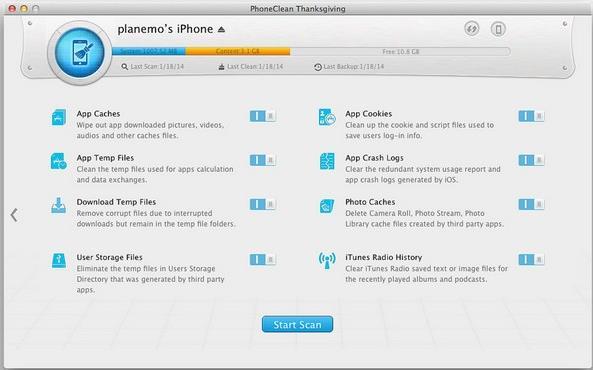 Clean My Phone Mac版