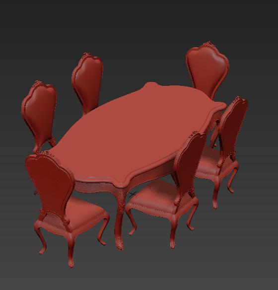 欧式风格不仅存在于装修中,家具中的欧式风格也是很不错的。欧式3dmax免费餐桌椅模型贴图中的餐桌椅是由两种颜色组合而成的,红色的椅子搭配浅颜色的餐桌正好形成了色彩上的协调,不管是餐桌还是椅子的边缘都是拥有欧式风格存在的,这样的餐桌椅是值得你们拥有的哦!
