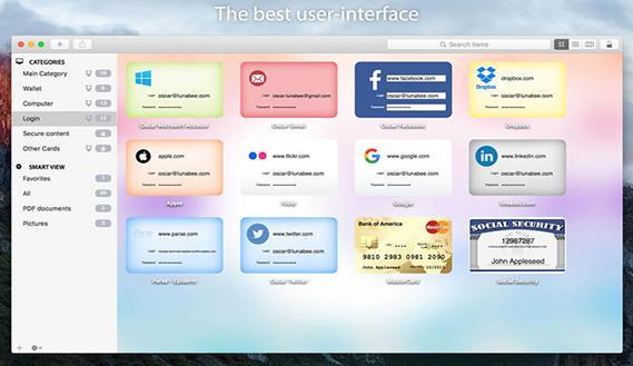 oneSafe苹果电脑版界面