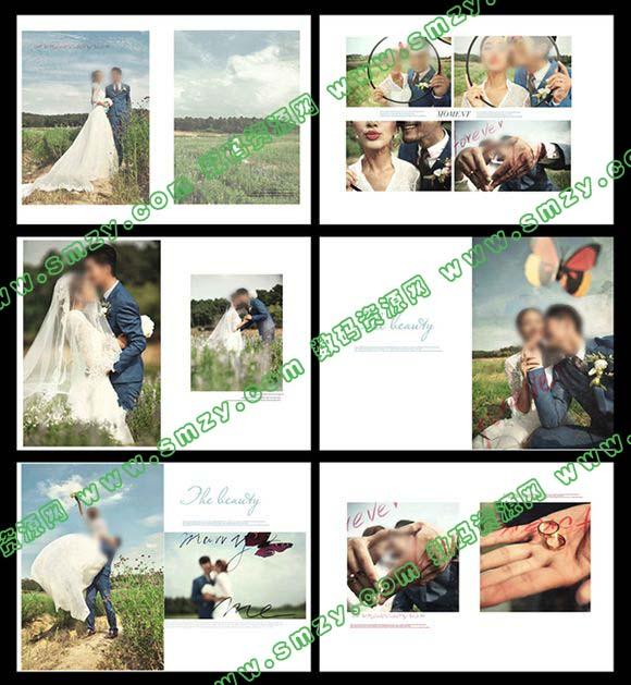 """全套""""婚纱摄影模板 爱的瞬间""""缩略图"""