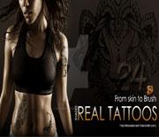 超酷的人体纹身笔刷