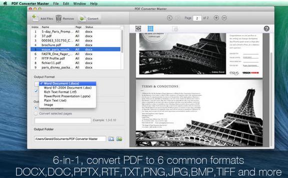 pdf converter master苹果电脑版界面图片