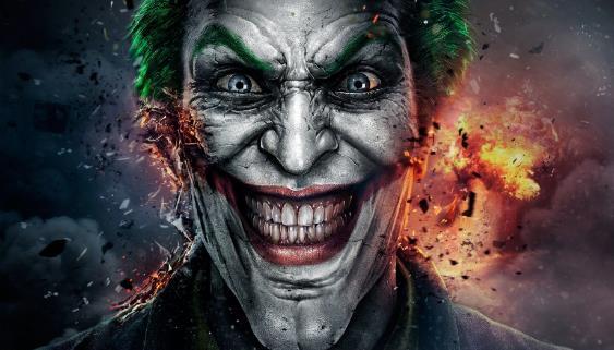 小丑黑板海报高清图片
