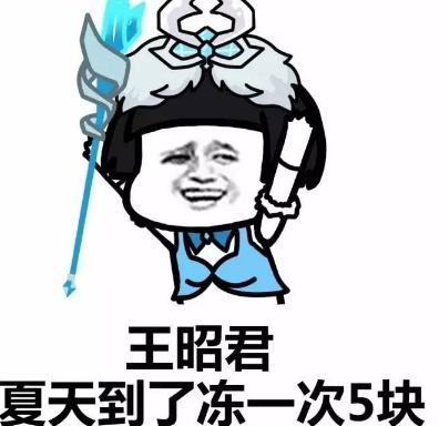 我王昭君冻一次五块钱qq表情包(王昭君的大又是冰冻效果) 最新版图片