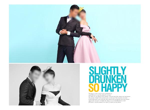 在线ps婚纱模板 快乐无限09