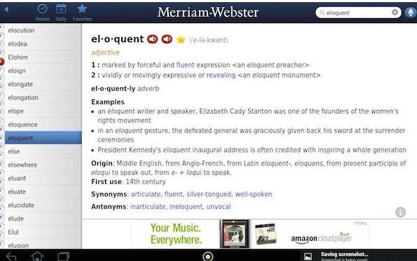 Merriam-Webster Mac版界面