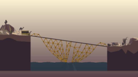 桥梁构造者Poly Bridge2-1通关方法教程