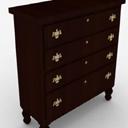 3d免费中式木质厅柜模型
