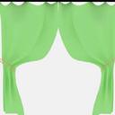 3D绿色窗帘模型贴图