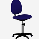 蓝色办公椅3d材质模型