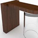 免费3D棕色书桌模型贴图