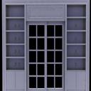 免费3d灰色木质展示柜模型
