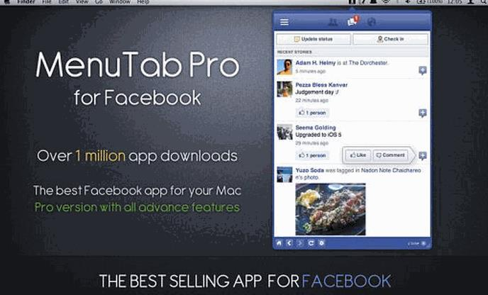 mac版_menutab pro for facebook mac版