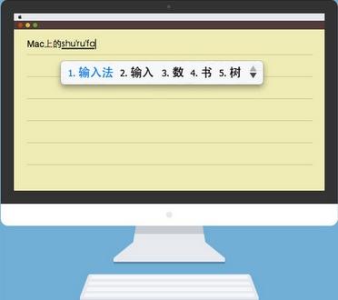 QQ五笔输入法苹果电脑版界面