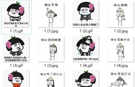 小仙女表情包系列高清版无水印版图片