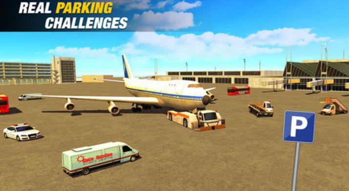 飞机停机场机场2018苹果版游戏里挑战机场工作人员的驾驶任务,平滑和