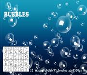 透明的水泡气泡笔刷