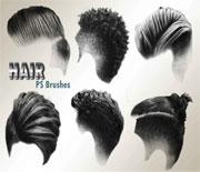 20款男性头发发型笔刷