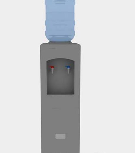 灰色饮水机3dmax模型贴图下载