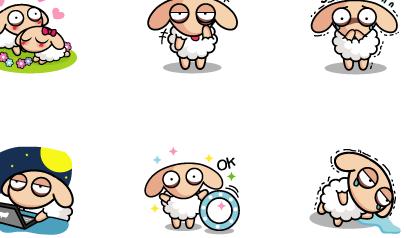 失眠羊表情包高清版下载(qq表情) v1.0 免费版 - 数码