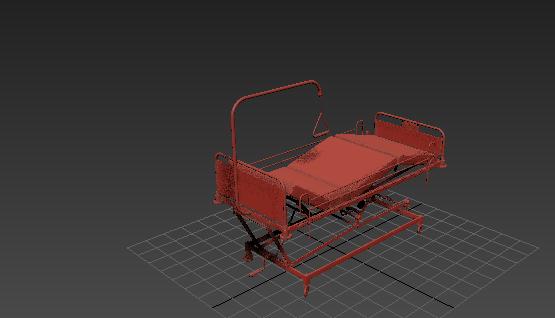 3D免費醫院移動病床模型