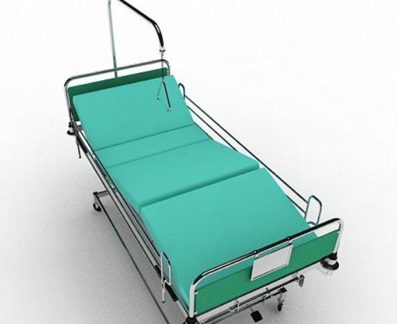 3D免費醫院移動病床模型特色