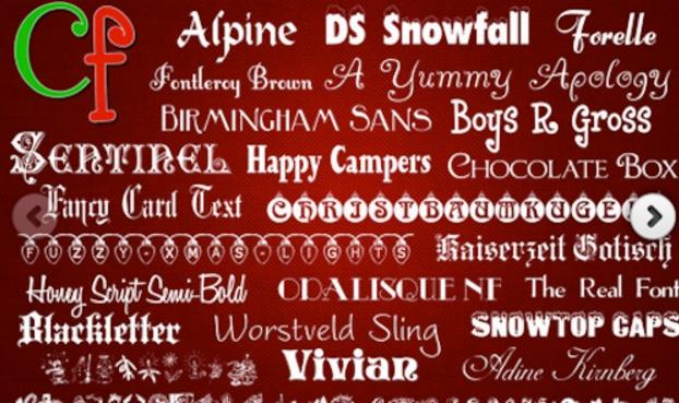 ChristmasMac版下载(Mac字体软件)v2.0正式v字体六一黑板报图片