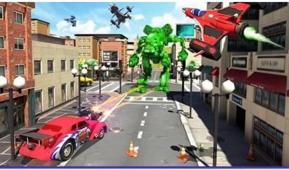 飞行变形机器人战争模拟安卓版下载(动作类的