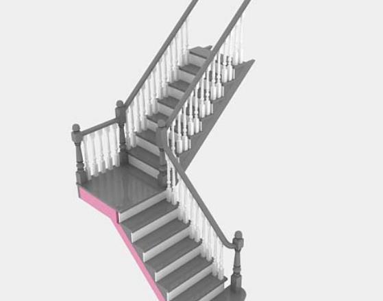 首页 3d模型下载 3d模型 铁艺栏杆 > 3dmax欧式转角楼梯模型下载