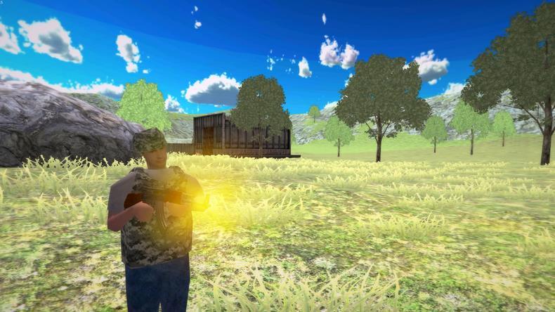 当游戏开始时,你会从飞机上跳下来,降落在战场上,而且你需要搜集武器