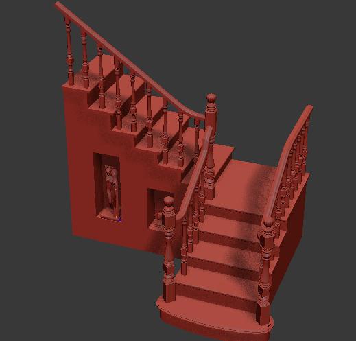 首页 3d模型下载 3d模型 铁艺栏杆 > 欧式3dmax免费转角楼梯模型下载