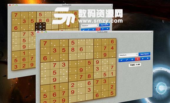 SudokuMM for Mac界面