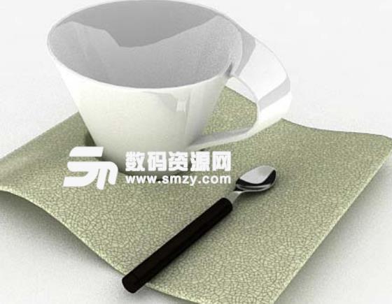 现代简约3dmax茶具模型特色