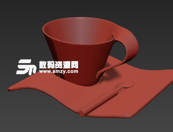 现代简约3dmax茶具模型