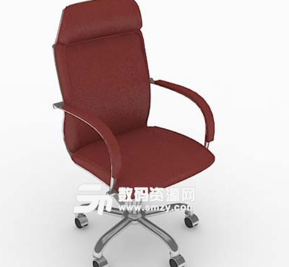 3d免費紅色輪滑式椅子模型特色
