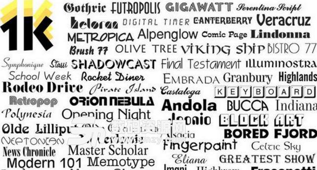 1000 OpenType Fonts for Mac