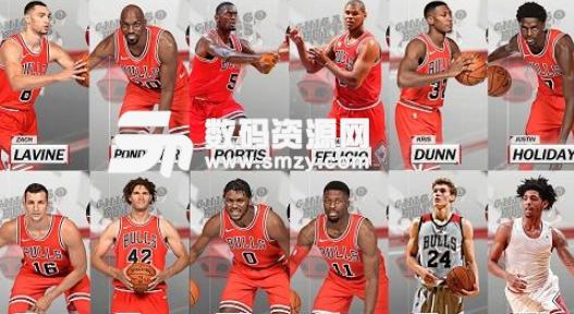 NBA2K18公牛全队球员高清照片补丁下载 NBA2K18MOD v1.0 绿色版图片
