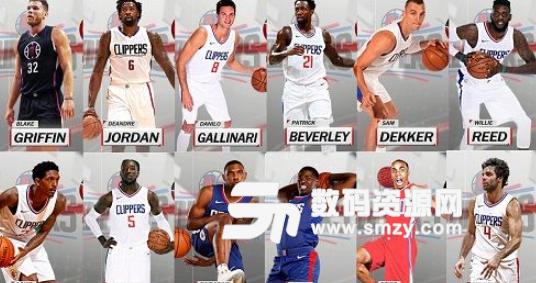 NBA2K18快船全队球员高清照片补丁下载 NBA2K18MOD v1.0 免费版图片