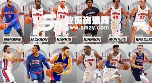 NBA2K18活塞全队球员高清照片补丁下载 NBA2K18MOD v1.0 绿色版图片