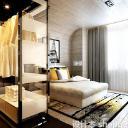 简约透明风格现代卧室免费3d模型