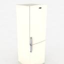 现代电器设计之白色冰箱3d模型