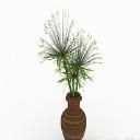 免费3d绿色花卉植物室内插花摆设模型