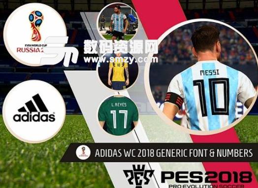 实况足球2018世界杯阿迪达斯球衣号码模板补