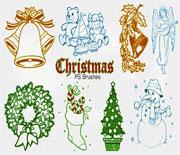 Photoshop圣诞节笔刷